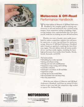 Motocross & Off-Road Performance Handbook (Third Edition) (9780760319758) - back