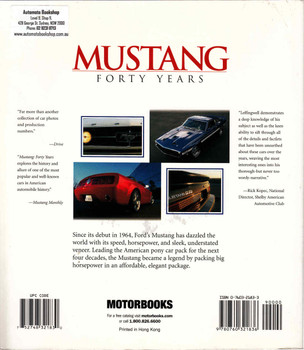 Mustang Forty Years (Paperback Edition) (9780760321836) - back