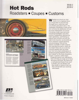 Hot Rods: Roadsters - Coupes - Customs (Idea Book Series) (9780760335161) - back