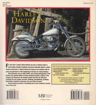 Harley-Davidson: Enthusiast Color Series - Revised and Updated Paperback (9780760319772) - back