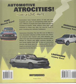Automotive Atrocities: The Cars We Love To Hate (9780760317877) - back