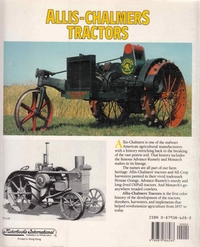 Allis-Chalmers Tractors - Farm Tractor Color History (9780879386283) - back