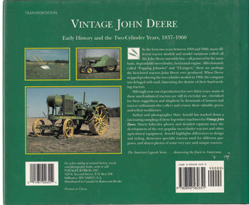 Vintage John Deere: Early History And The Two-Cylinder Years, 1837 - 1960 (9780896582651) back