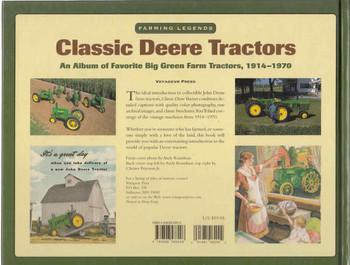 Classic Deere Tractors: An Album Of favorite Big Green Farm Tractors, 1914 - 1970 (9780896586208) - back