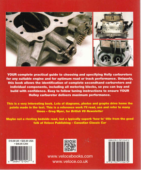 How To Build & Power Tune Holley Carburetors - Updated & Revised Edition ( Veloce Classic Reprint Series ) (9781787110472) -0 back