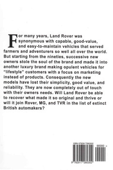 Land Rover - A Short Story (9782917260302) - back