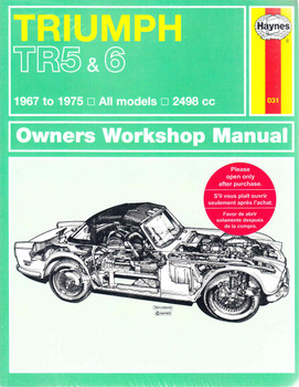 Triumph TR5 & 6 1967 to 1975 Workshop Manual (9780857336477)
