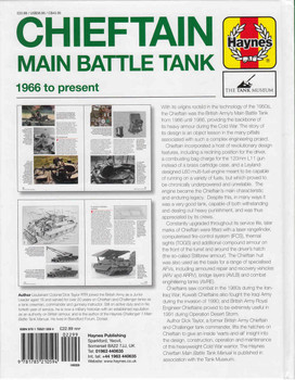 Chieftain Main Battle Tank 1966 to present Owners' Workshop Manual (9781785210594)  - back