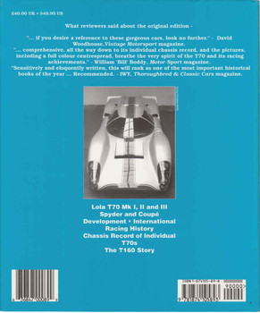 Lola T70 : The Racing History & Individual Chassis Record- Updated & Revised Edition (9781874105893) - back