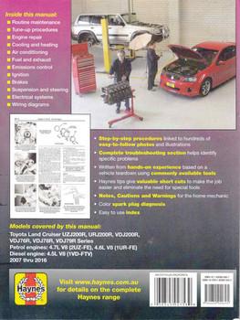 Toyota Land Cruiser 76, 78, 79 and 200 Series Petrol & Diesel 2007 - 2016 Workshop Manual (9781620920695) - back