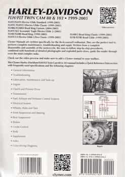 Harley-Davidson FLH/FLT Twin Cam 88 & 103 1999 - 2005 Workshop Manual (9781599690162) - back