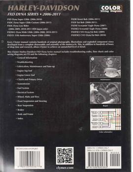 Harley-Davidson FXD DYNA SERIES 2006 - 2011 Workshop Manual (9781599695365) - back