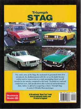 Triumph Stag: A Brooklands Road Test Portfolio (9781855208933) - back