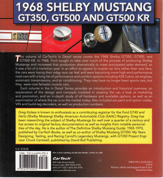 1968 Shelby Mustang GT350, GT500 and GT500 KR Muscle Cars In Detail No.3 (9781613252925)