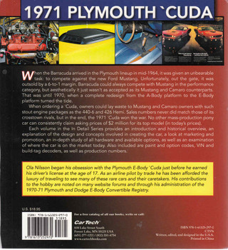 1971 Plymouth 'Cuda Muscle Cars In Detail No.2 (9781613252970)