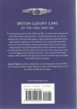 British Luxury Cars Of THe 1950s And '60s (Shire Library) (9781784420642)