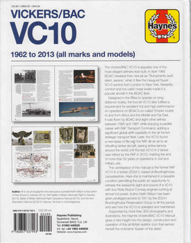 Vickers/BAC VC10 1962 to 2013 (all marks and models) Owners' Workshop Manual (9780857337993)