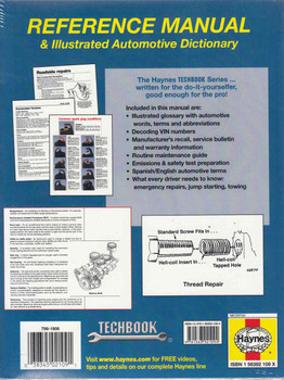 Automotive Reference Manual & Illustrated Automotive Dictionary (Technook Series) (9781563921094)