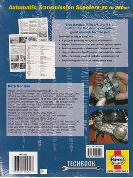 Scooters Automatic Transmission 50 to 250cc: Honda, Piaggio, Vespa & Yamaha (Techbook Series) (9781563926020)