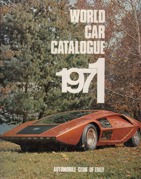 World Car Catalogue 1971 (Automobile Club Of Italy) (9780910714037)