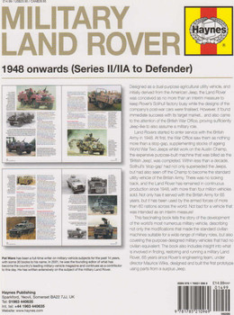 Military Land Rover 1948 onwards (Series II/IIA to Defender) Enthusiasts' Manual (Paperback Edition) (9781785210969) (view)
