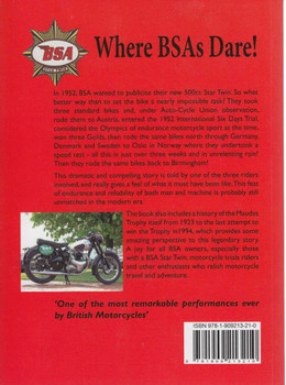 Where BSAs Dare! BSA's 1952 ISDT Golds and Maudes Trophy (9781909213210)