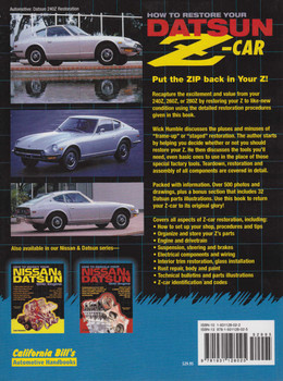 How To Restore Your Datsun Z-Car (9781931128025)
