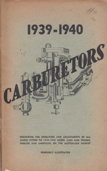 1939 - 1940 Carburetors (L.J.Henderson) (B45495B)