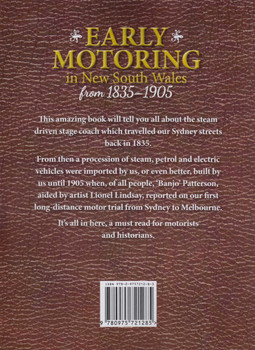 Early Motoring in New South Wales from 1835-1905 (9780975721285)