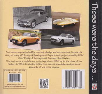 Don Hayter's MGB Story - The birth of the MGB in MG's Abingdon Design & Development Office - Those were the days...(Reprint) (9781845844608)