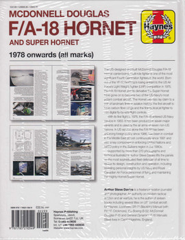 McDonnell Douglas F/A-18 Hornet and Super Hornet 1978 onwards (all marks) Owners' Workshop Manual (9781785210549) (view)