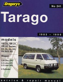 Tarago 1.8L, 2.0L, 2.2 L 4 Cylinder 1983 - 1990 Workshop Manual