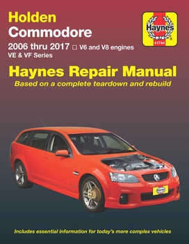 Holden Commodore 2006 thru 2017 VE/VF Series Repair Manual (9781620921609)