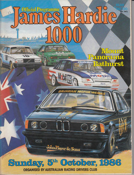 James Hardie 1000 Official Programme, Sunday 5th October 1986