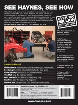 Mini 2006 - 2013 Petrol & Diesel 1.4 L, 1.6L, 2.0L Workshop Manual