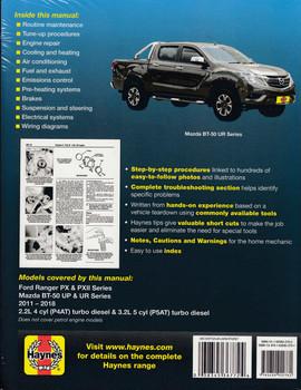 Ford Ranger PX & PXII , Mazda BT-50 UP & UR, 2.2L, 3.2L Diesel 2011 - 2018 Workshop Manual