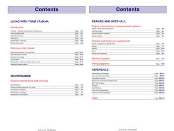 yamaha tdm850, trx850 & xtz750 1989 - 1999 workshop manual