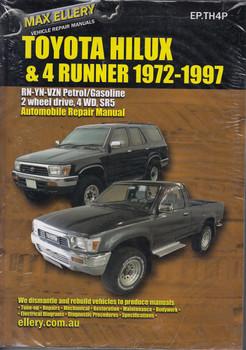 Toyota Hilux & 4Runner RN YN VZN Petrol 1972 - 1997 Workshop Manual