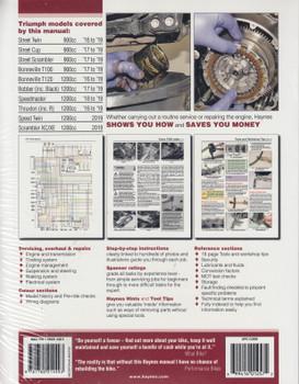 Triumph Bonneville T100, T120, Speedmaster, Bobber, Speed Twin, Thruxton, Street Twin, Cup & Scrambler 2016 - 2019 Workshop Manual (9781785214011)