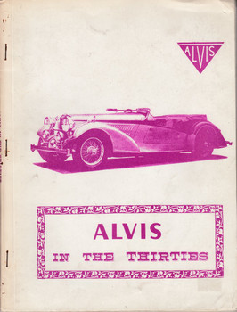 Alvis In The Thirties - Road Tests (R M Clarke)