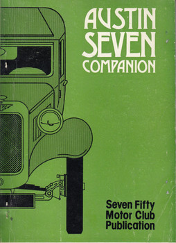 Austin 7 Companion - The 750 Motor Club Publication (1983 by Barry Martin)