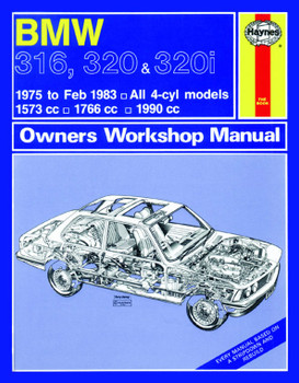 BMW 316, 320, 320i 1975 - 1983 Workshop Manual (9780857335821)