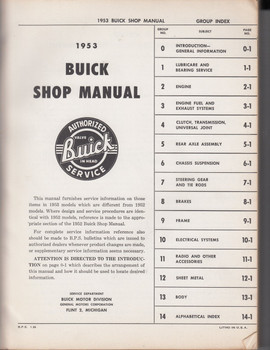 1953 Buick Shop Manual (Workshop Manual)
