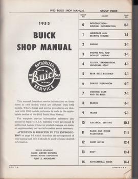 1953 Buick Shop Manual (Workshop Manual)