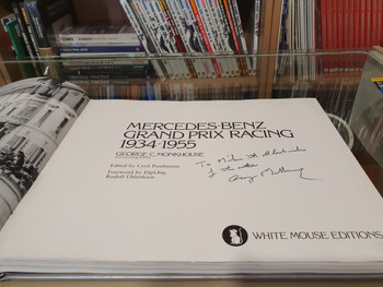 Mercedes-Benz - Grand Prix Racing 1934 - 1955 (Hardcover SIGNED by George C. Monkhouse)
