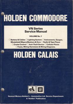 Holden Commodore Calais VN Series Repair Service Workshop Manual (Vol 7)