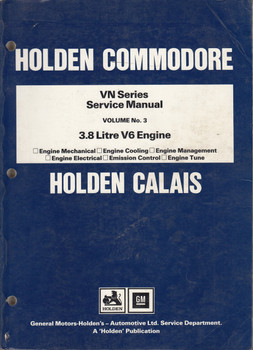 holden calais vx series workshop service repair manual