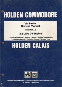 Holden Commodore Calais VN Series 3.8 Litre V6 Engine Repair Service Workshop Manual (Vol 3)