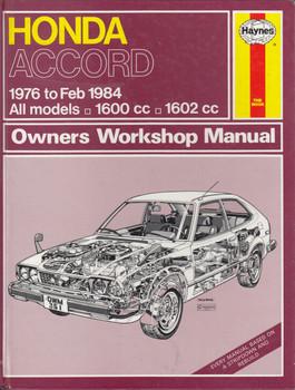 Honda Accord CVCC 1976 - 1984 Workshop Manual