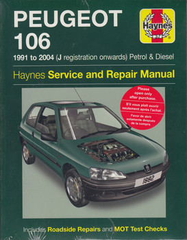 Peugeot 106 Petrol & Diesel (1991 - 2004) Haynes Repair Manual